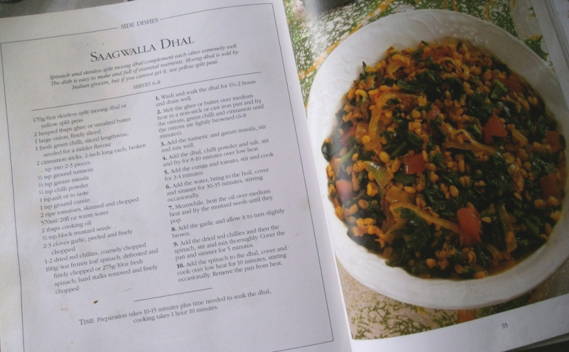 Vintage Recipe: Saagwalla Dhal the Comfort Curry